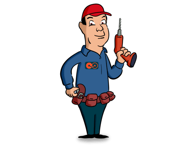 IT employee with screwdriver